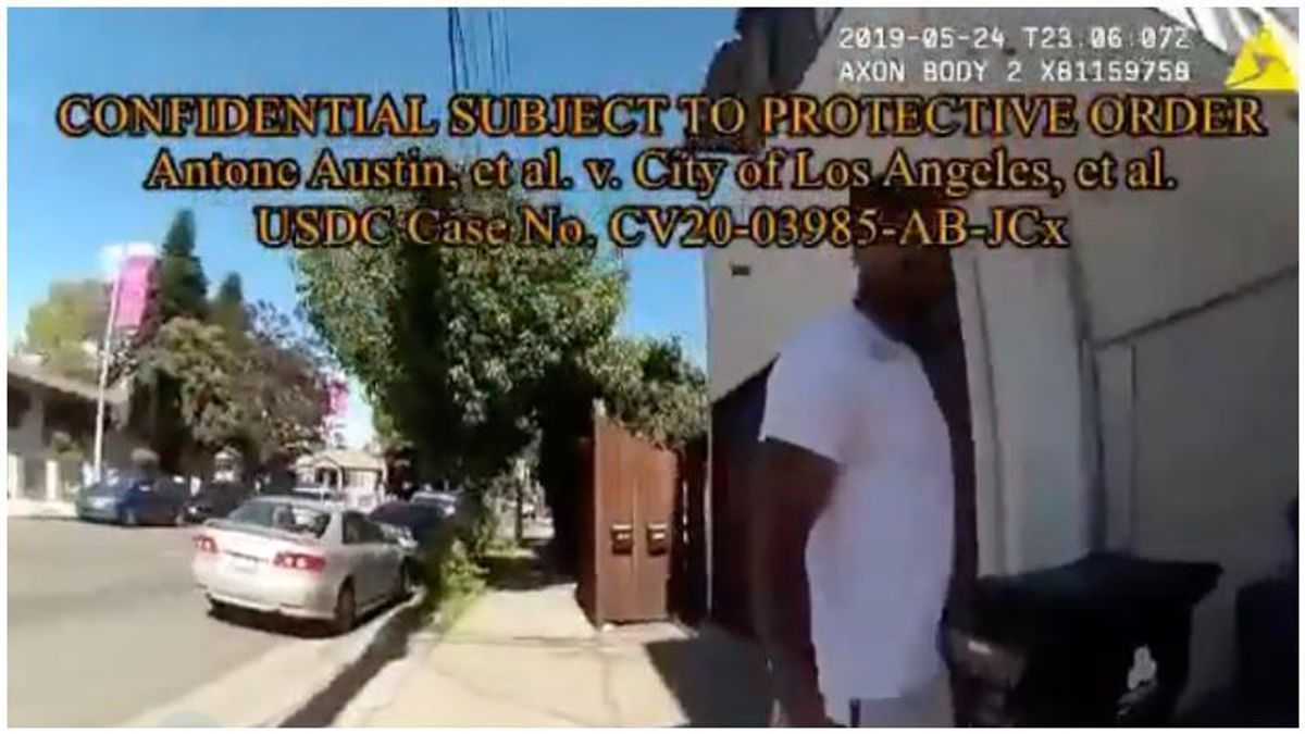 WATCH: LA cops rough up and arrest Black man who smiled at them -- while looking for white suspect