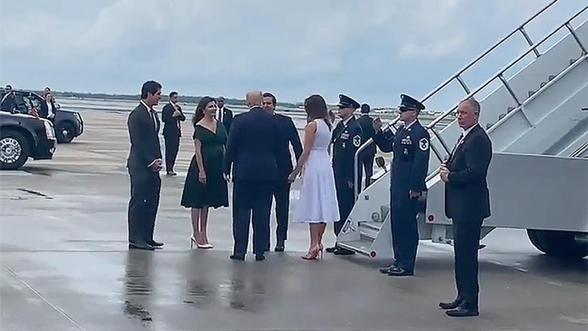 Video emerges of Trump and Ron DeSantis meeting man being investigated for human trafficking with Matt Gaetz