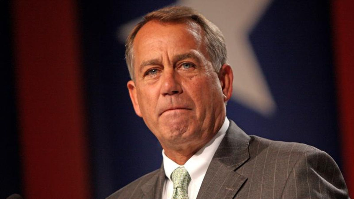 Blame John Boehner for the 'Crazytown' afflicting the Republican Party