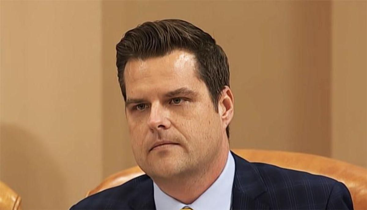 Matt Gaetz raged against 'the lying media' on Twitter -- and it blew up in his face