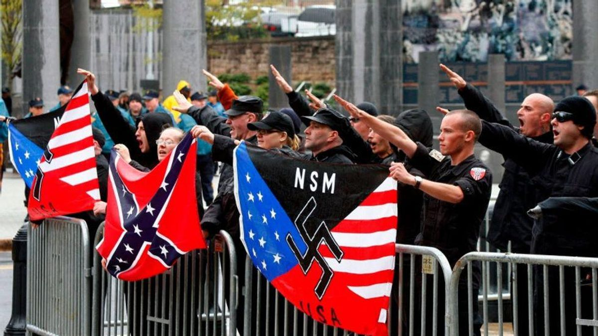 White supremacist propaganda appears around California cities as residents brace for 'White Lives Matter' rally