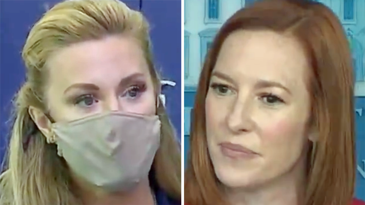 Jen Psaki hilariously shuts down Newsmax personality's loaded question on Obama