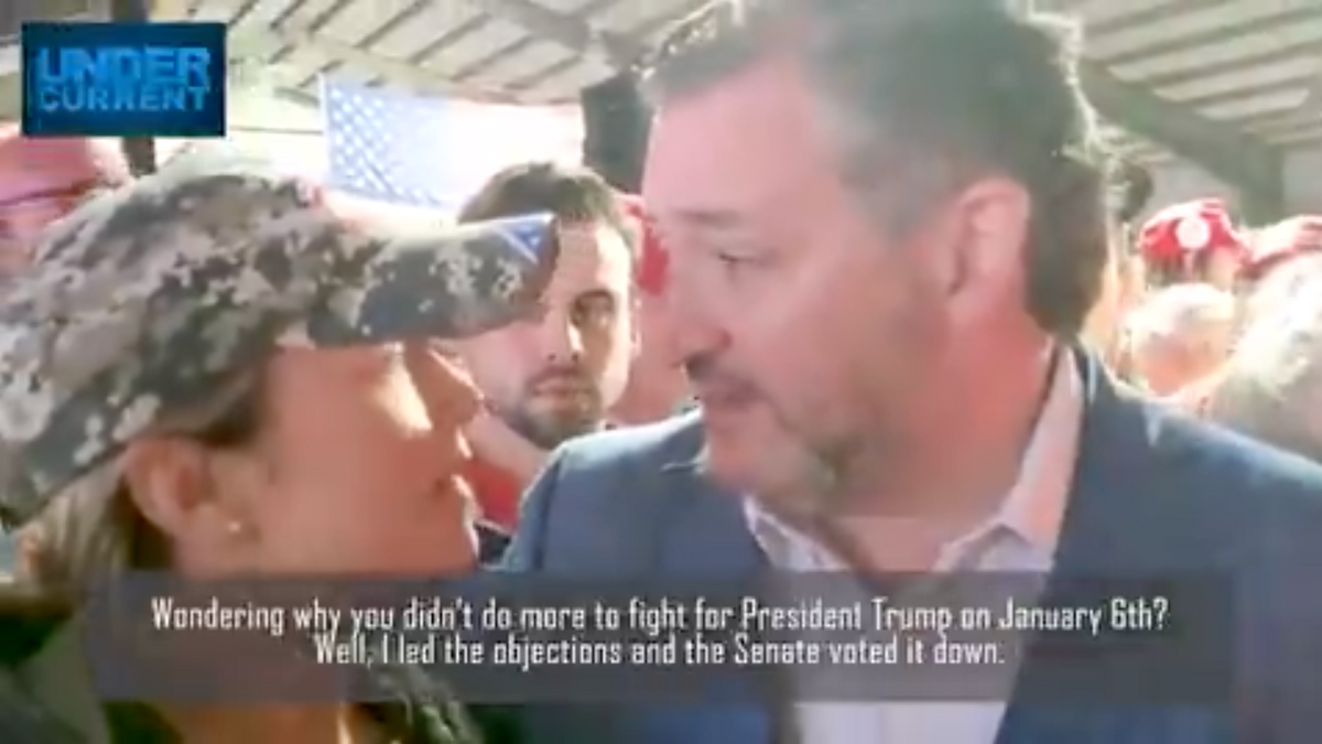 Watch: A fake Trump supporter tricks Ted Cruz into bragging about his role in pushing the big lie