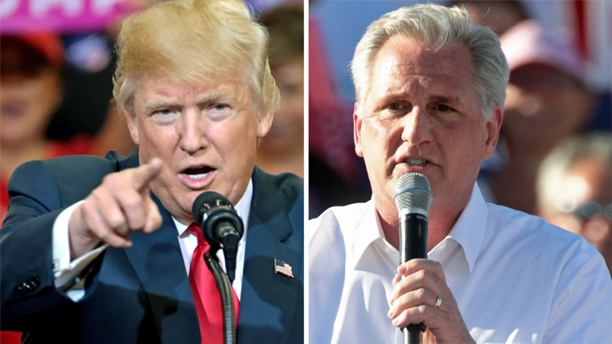 Trump is 'intrigued' by challenging Kevin McCarthy to be Speaker of the House in 2023: report