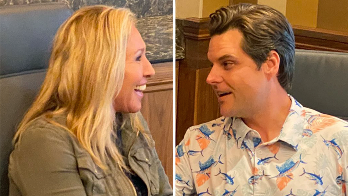 Majorie Taylor Greene and Matt Gaetz panned for 'American First' rally at The Villages