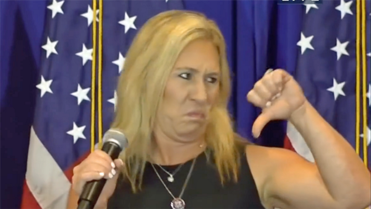 Marjorie Taylor Greene fires up Florida senior citizens with 'Big Lie' that Trump is still president