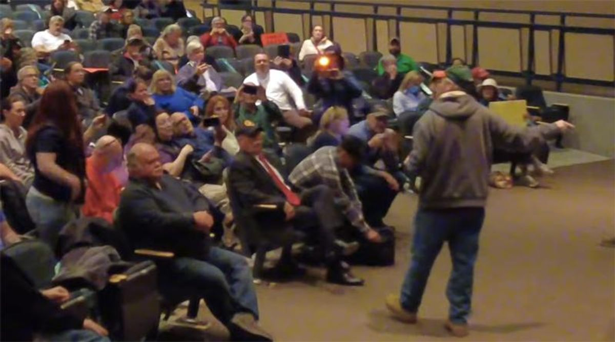 WATCH: Trump supporters disrupt New Hampshire town council meeting alleging voter fraud