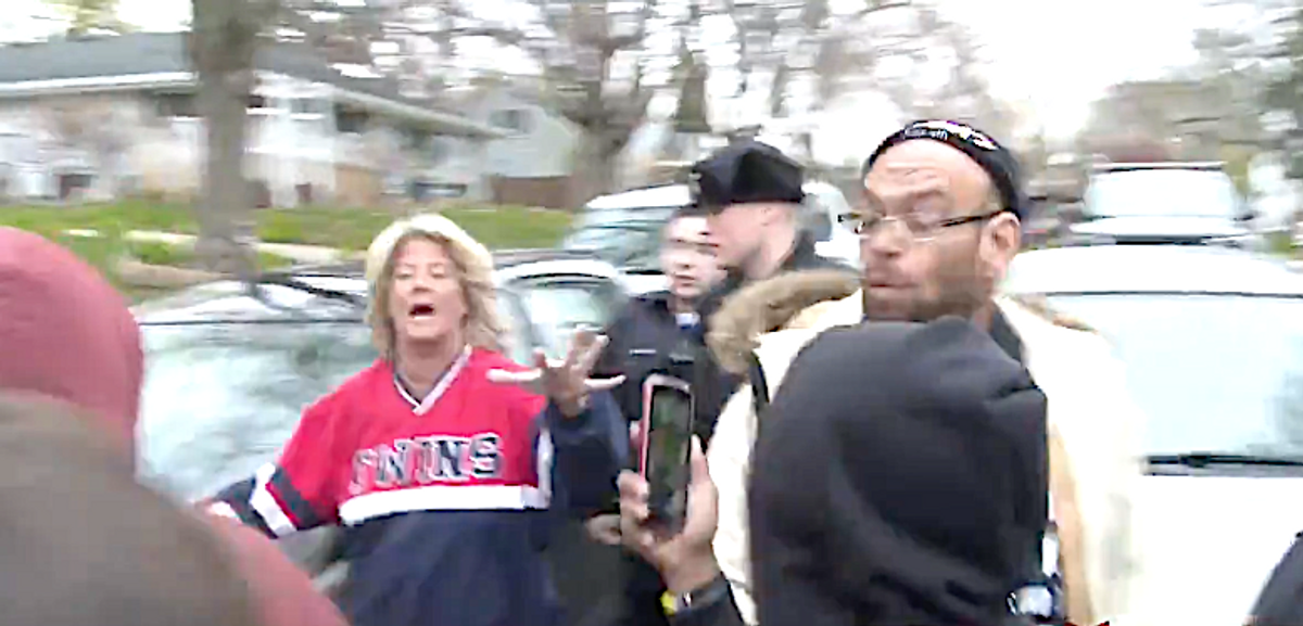 WATCH: Woman hurled the N-word at Daunte Wright protesters – now her husband is under investigation