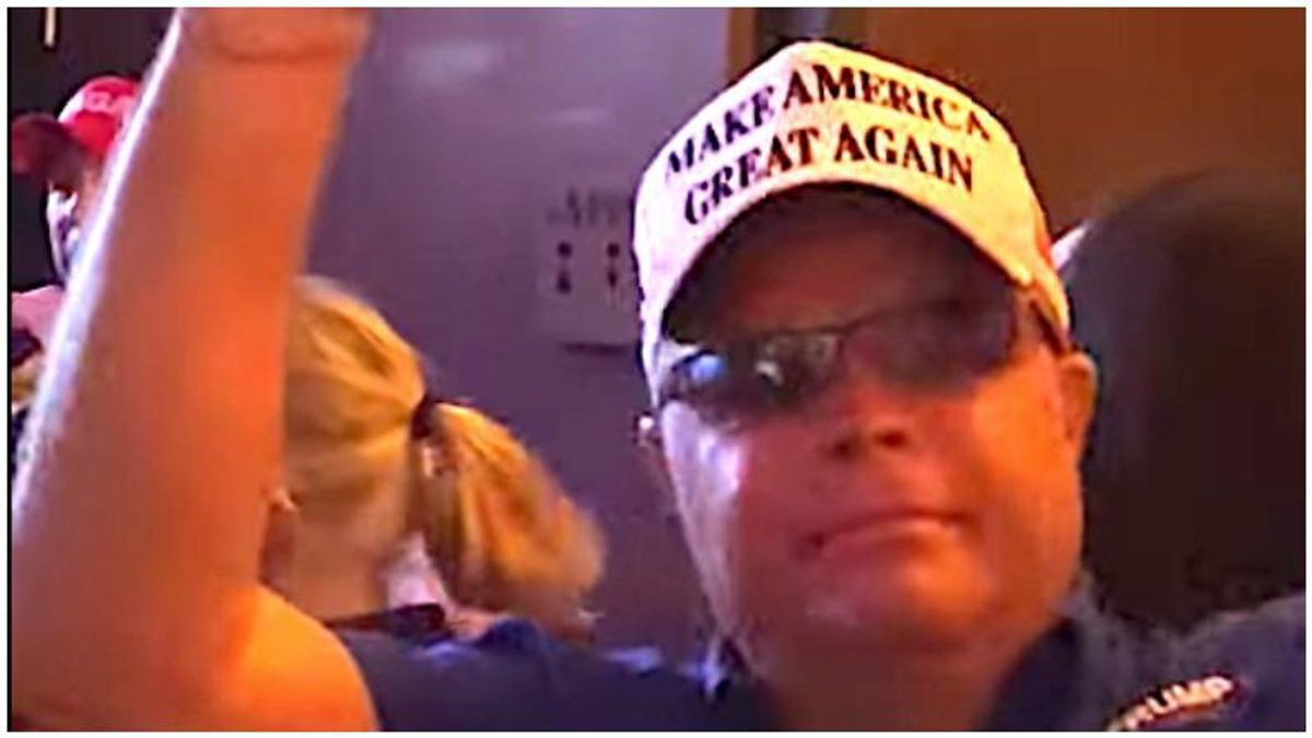 Trump boat parade organizer caught on video yelling 'white power!'