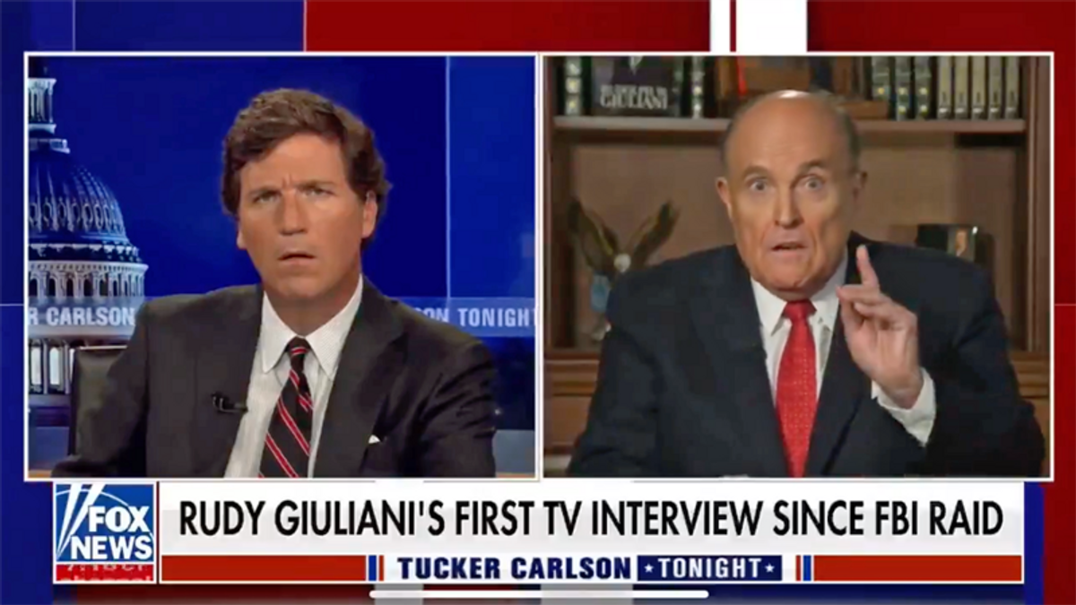 WATCH: Giuliani was spinning so hard on Fox News he forgot who was interviewing him