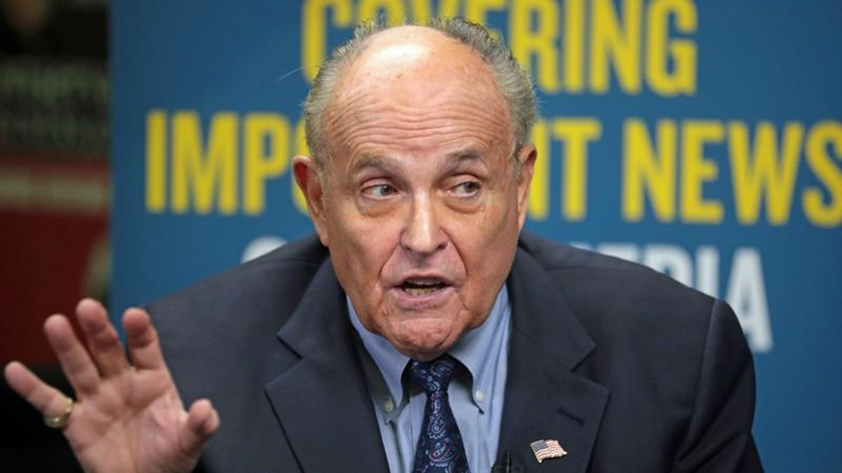 Something smells rotten in the new report on the Rudy Giuliani case