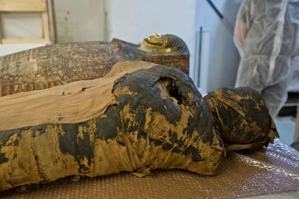 Polish scientists discover ancient Egyptian mummy was pregnant woman