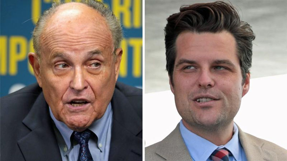 WATCH: Michael Cohen speculates FBI may have evidence linking Rudy Giuliani and Matt Gaetz scandals