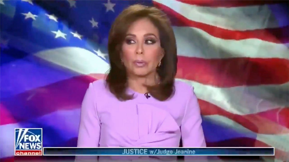 WATCH: Jeanine Pirro got off to an awkward start -- but quickly got back to lying about Joe Biden