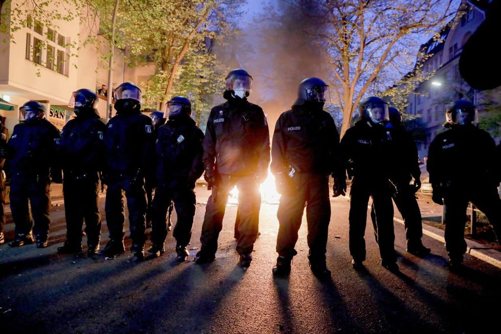 Over 50 Berlin police officers injured in violent May Day protest
