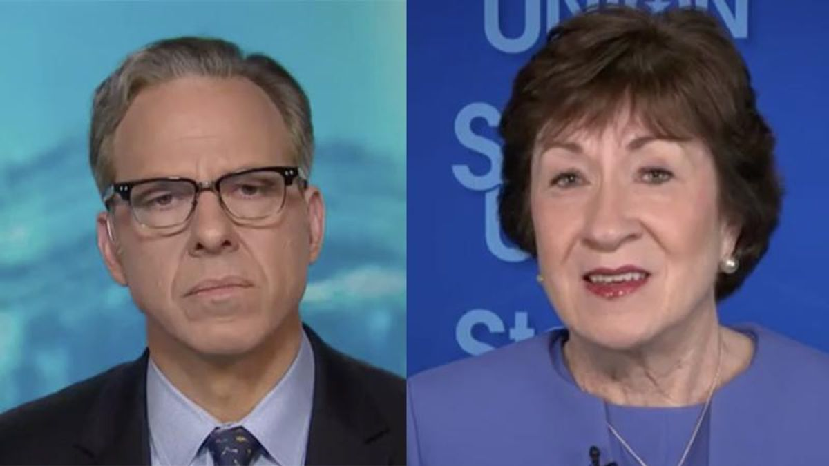 Susan Collins confronted on CNN with her Trump 'learned his lesson' comments before the Capitol riot