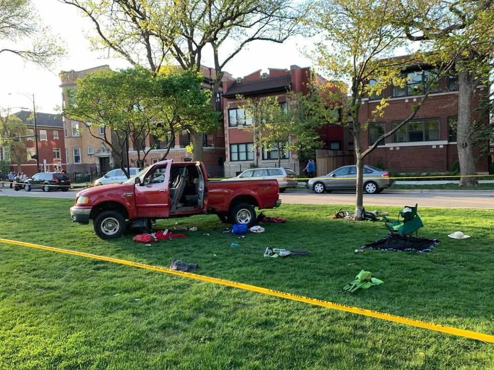 Driver angered by 'yuppies with dogs' at picnic in Chicago jumped curb and hit the group