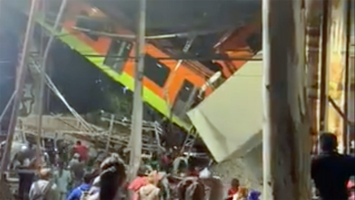 Haunting video captures metro train catastrophe in Mexico City that killed at least twenty: reports
