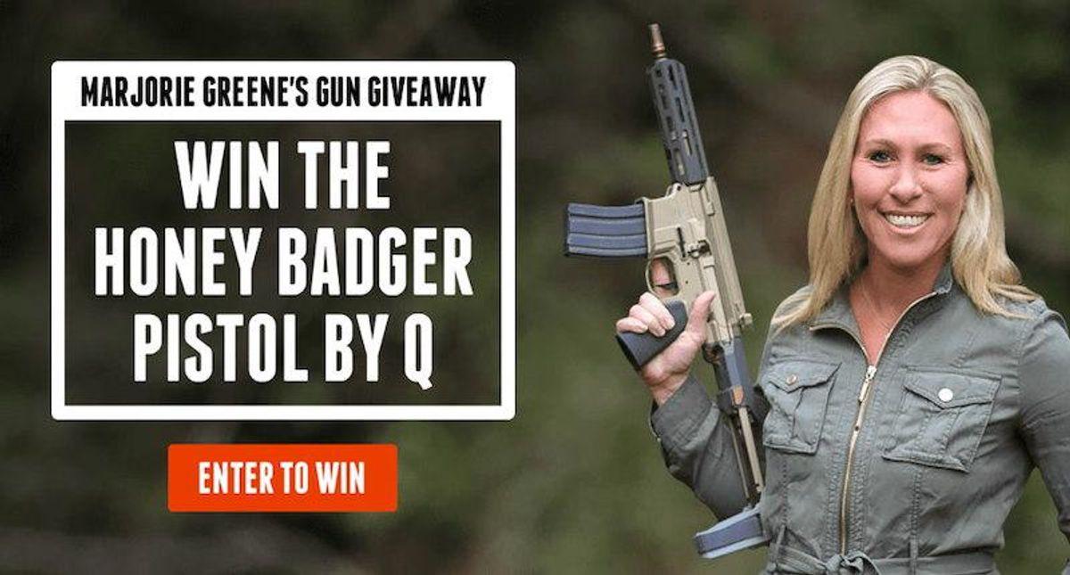'Nut should be on a watch list': Marjorie Taylor Greene slammed for AR-15 style gun giveaway