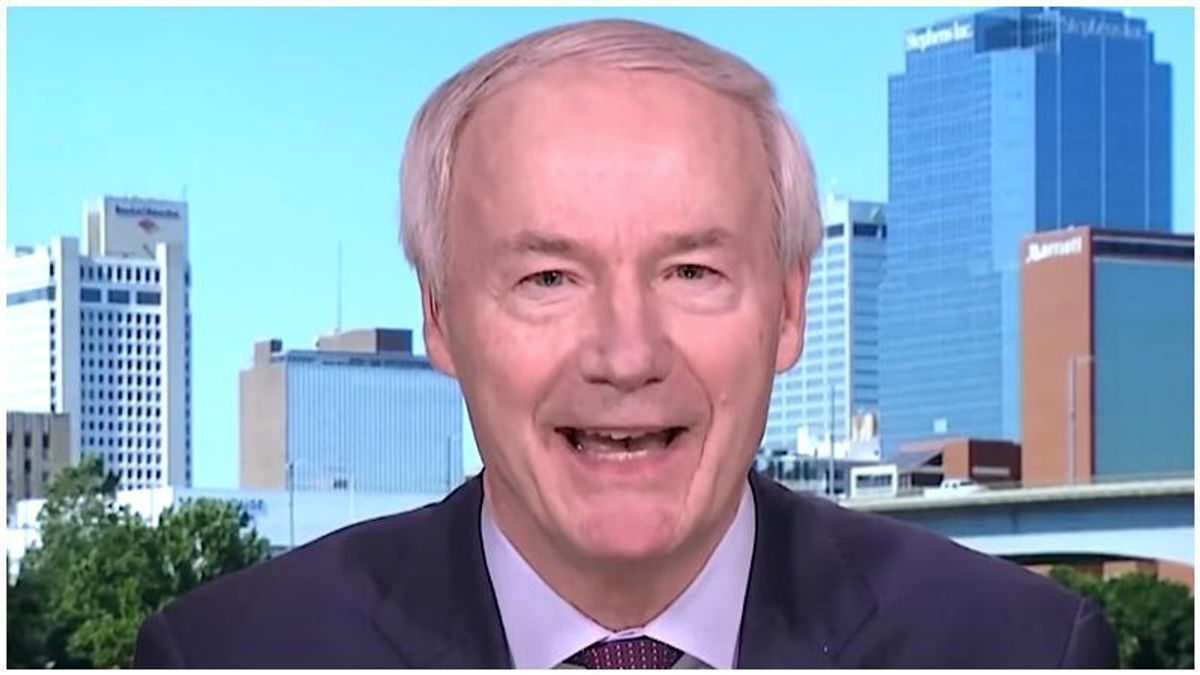 Arkansas' right-wing governor goes after Donald Trump for 'dividing us'