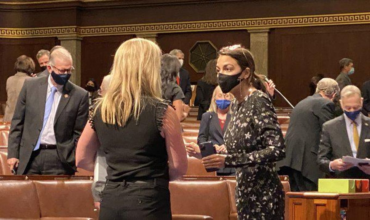 Marjorie Taylor Greene 'should be arrested': GOP 'bully' blasted for confrontation with AOC