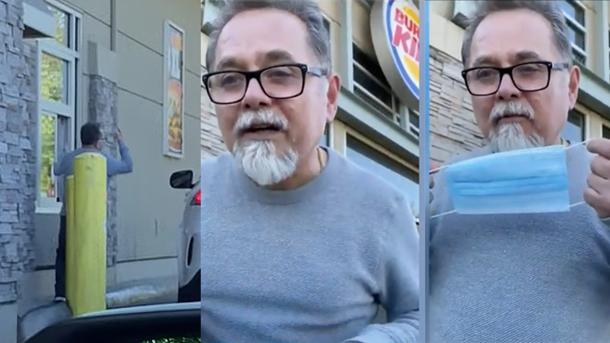 Racist captured on video screaming at Asian family in Burger King drive thru