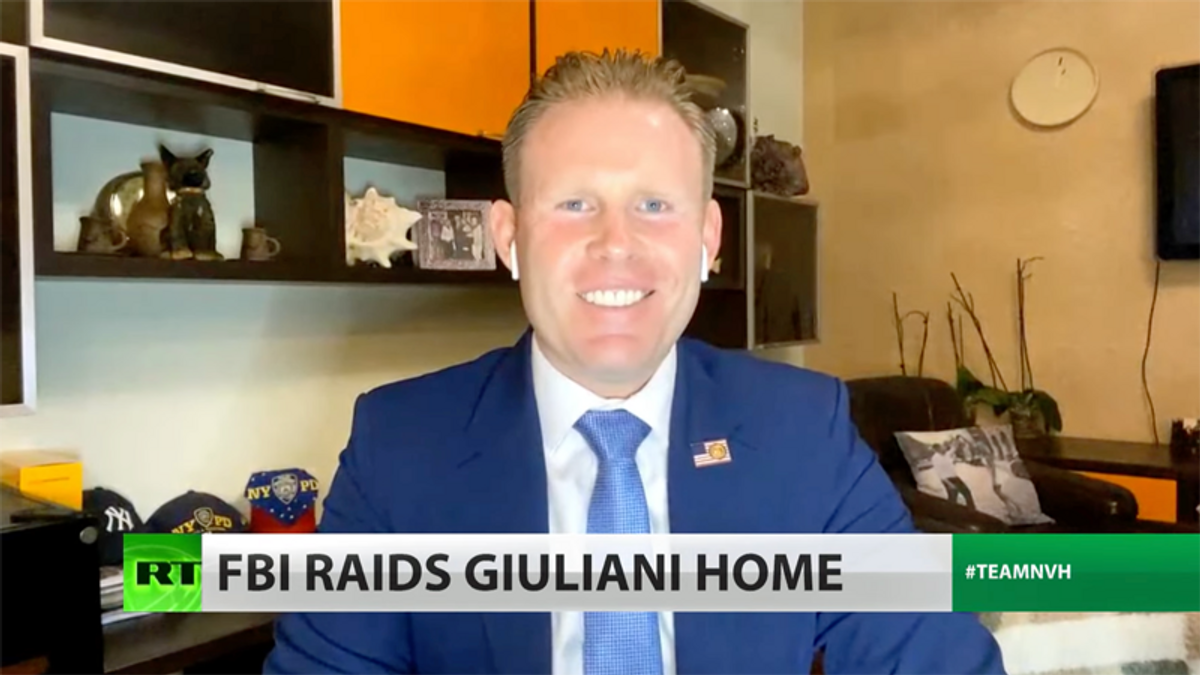 Giuliani's son tells Russian state TV people don't want to live in America after FBI raided his dad