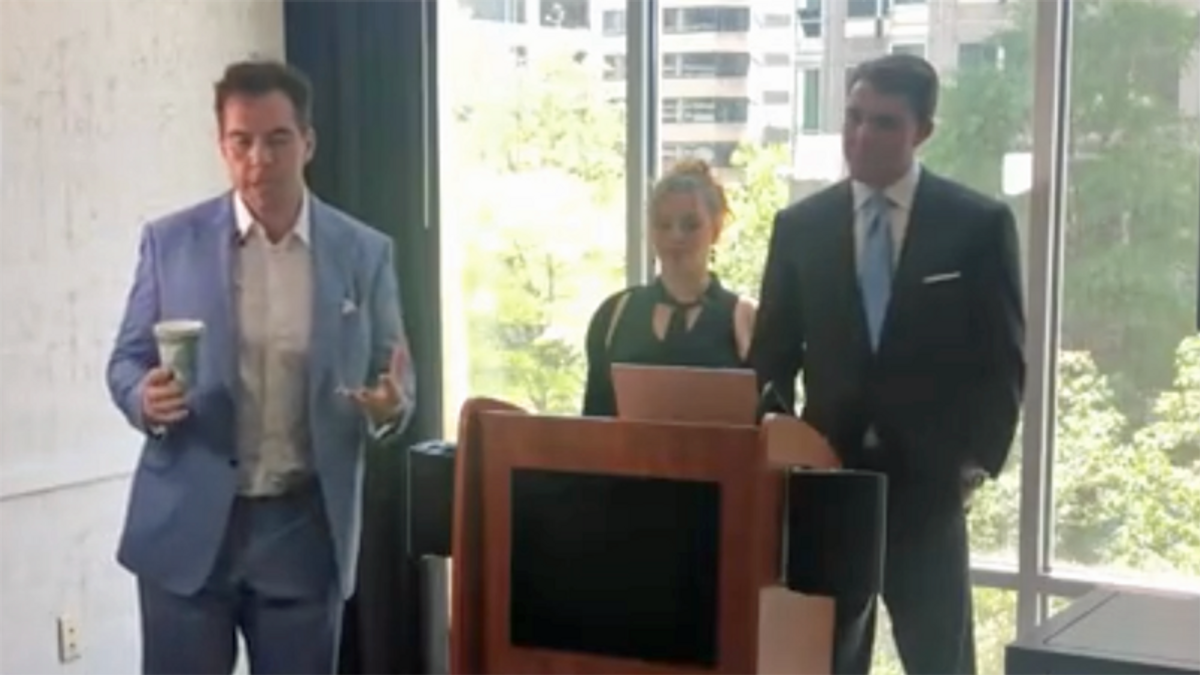 Hoaxers Jacob Wohl and Jack Burkman hold bogus presser -- are permanently banned from hotel