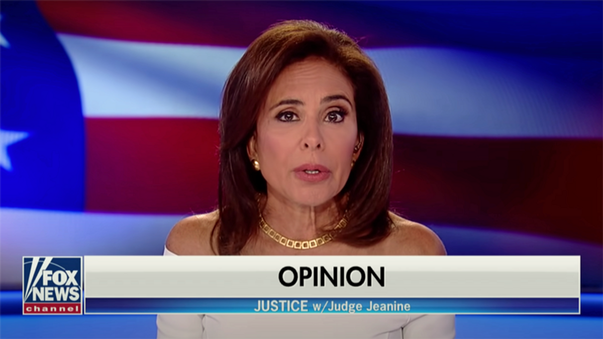 Jeanine Pirro gets confused by her own graphic — while she's live on-air: 'Whatever!'