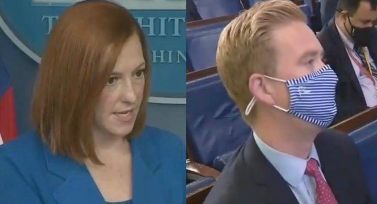 WATCH: Jen Psaki expertly explains to Fox News' Peter Doocy why Americans are scared to return to work