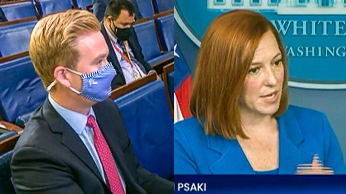 Jen Psaki elegantly shuts down Peter Doocy after he claims 'unemployment benefits are so good'
