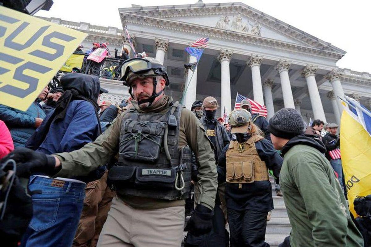 Oath Keepers' lawyer claims 'the Constitution does not protect one from violence' in typo-plagued response to Capitol riot lawsuit