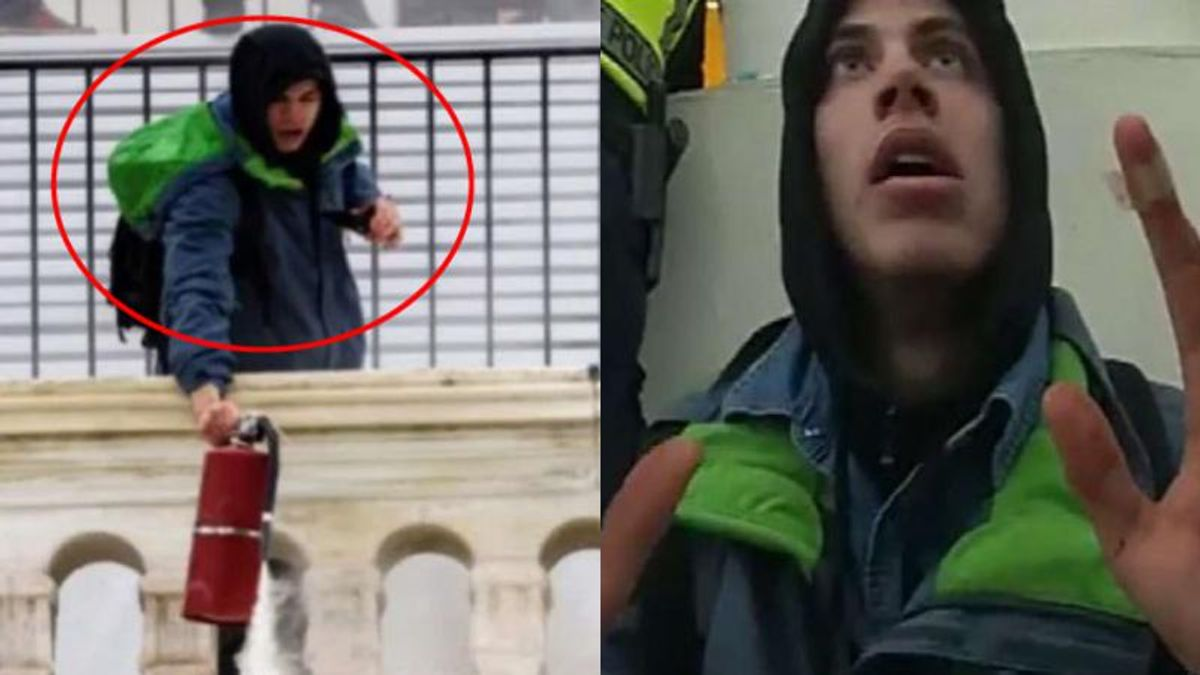 Capitol rioter arrested for spraying cops with fire extinguisher and donning one of their helmets