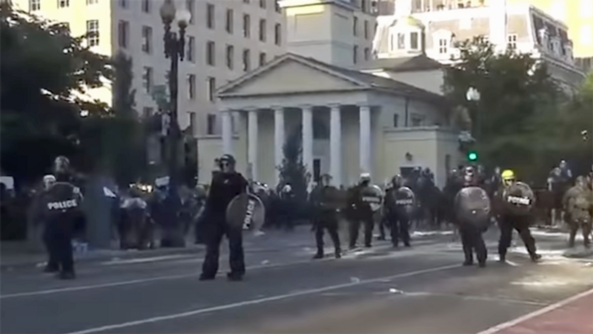 DC cops finally admit they used tear gas to clear Lafayette Square for Trump photo-op