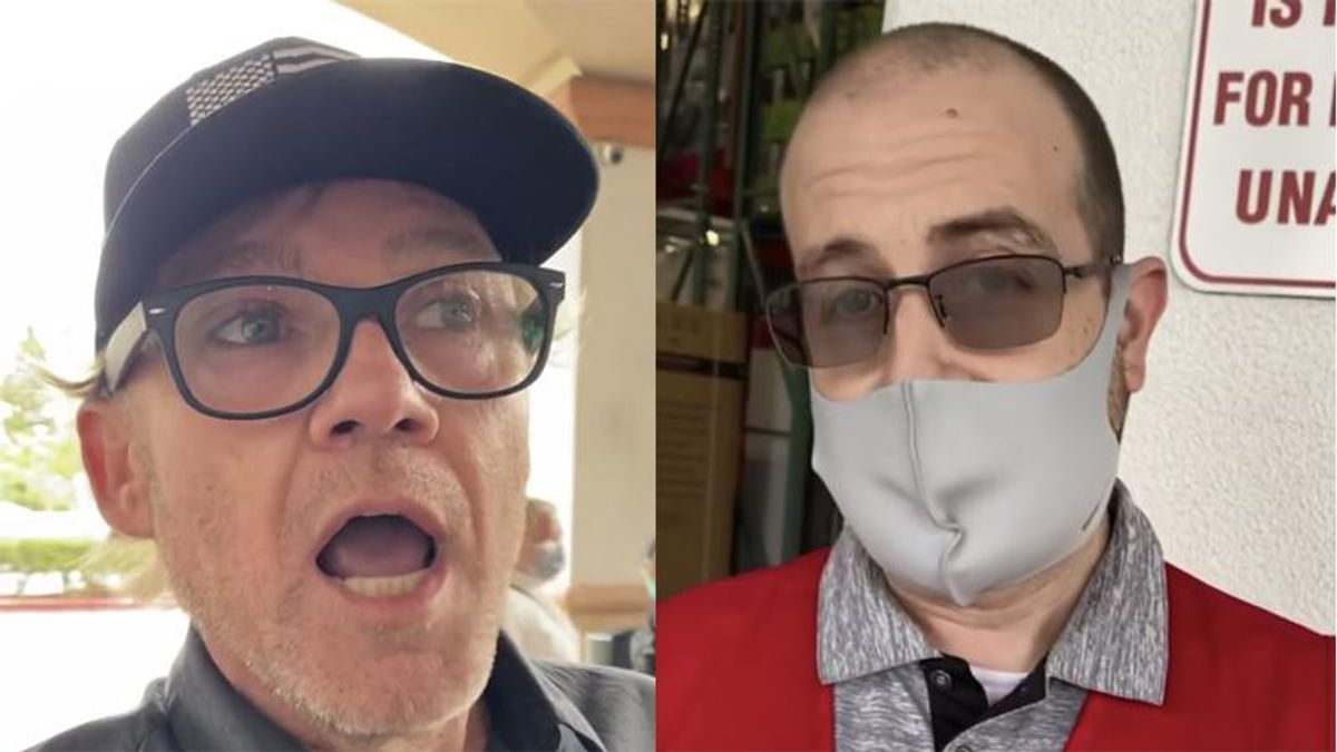 WATCH: Former child star Ricky Schroder bullies Costco employee over having to wear a face mask