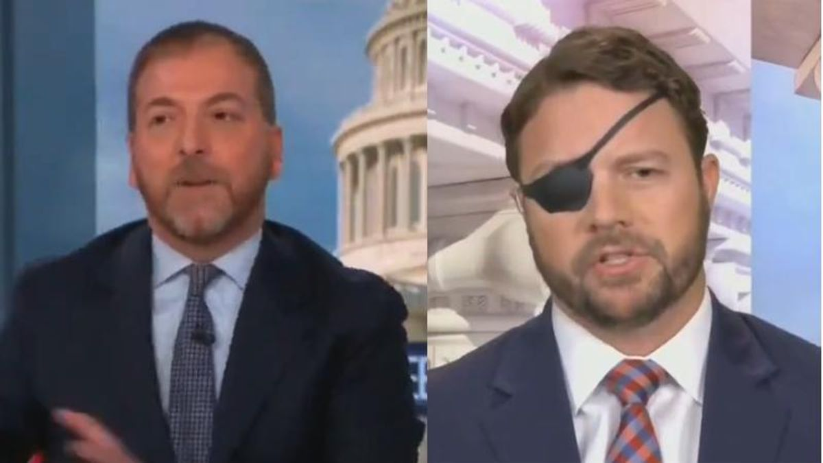 'Don't start that': NBC's Chuck Todd shuts down GOPer Dan Crenshaw for attacking reporting on Trump's election lies