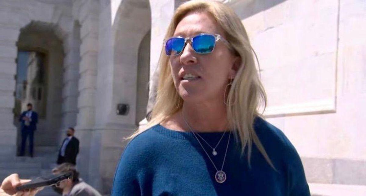 Marjorie Taylor Greene labeled a 'temper tantrum' throwing 'trainwreck' in brutal MSNBC takedown