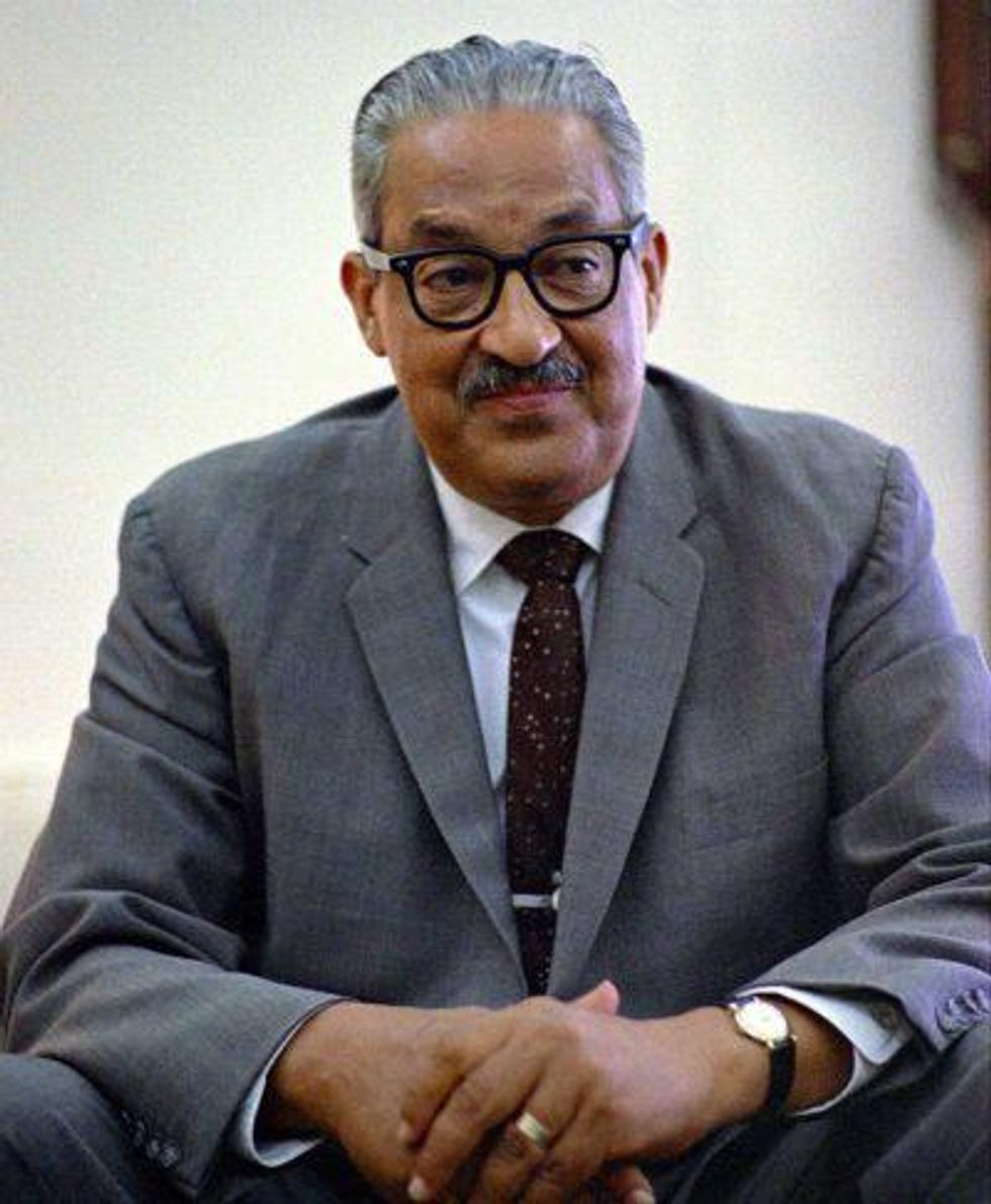 Thurgood Marshall, seen here in the White House in June 1967, the year he was appointed to the U.S. Supreme Court.