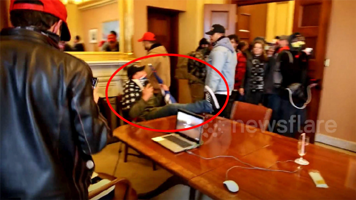 Busted Capitol rioter 'brought the clothes he was wearing on January 6' to his FBI interview