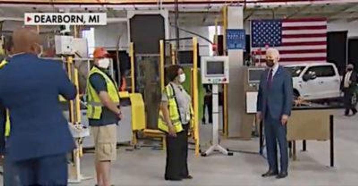 Fox News' Peter Doocy mocks President Biden for wearing a mask at the same Ford plant Trump wouldn't