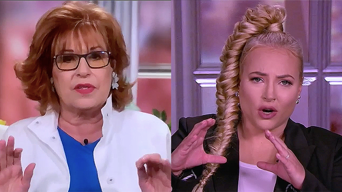 Whoopi Goldberg forced to cut to commercial as Meghan McCain and Joy Behar yell at each other over the COVID-19 vaccine