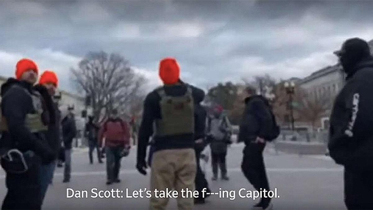 Proud Boy Dan 'Milkshake' Scott arrested after assaulting police at Capitol