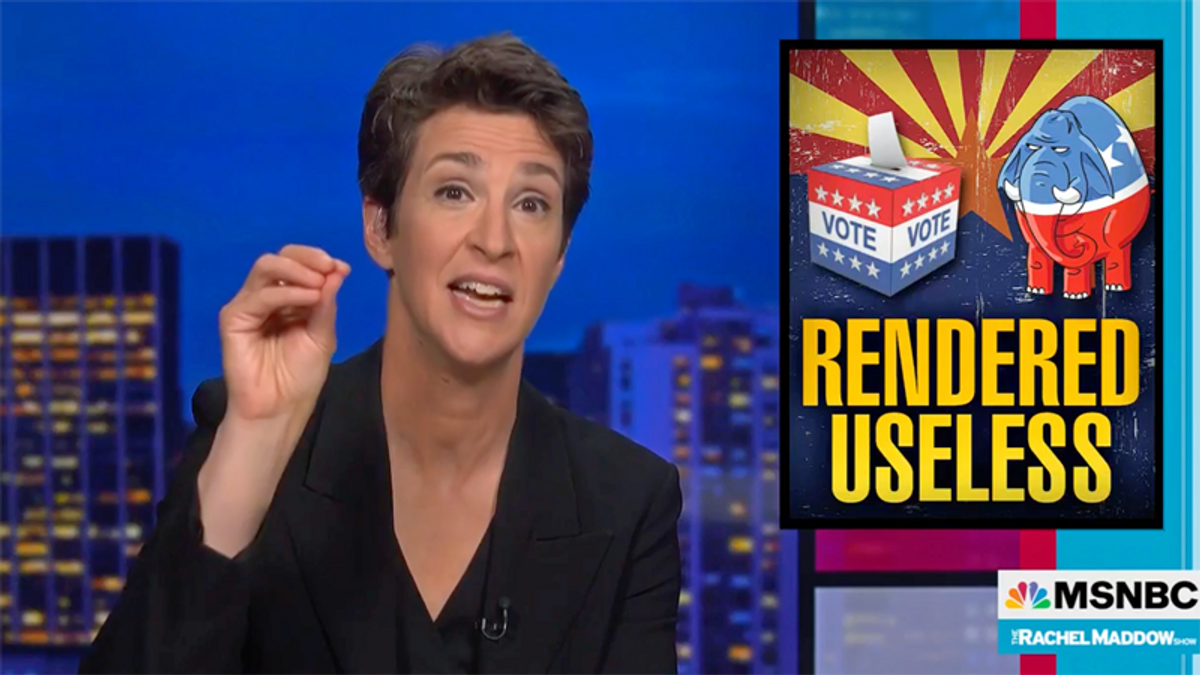 WATCH: Maddow is fed up with 'incredibly stupid and occasionally hilarious' GOP vote audits