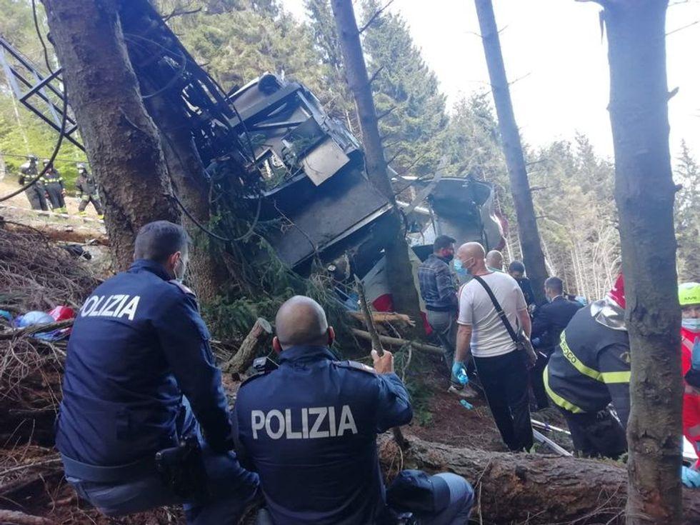 Italian cable car crash kills at least 13, injures three