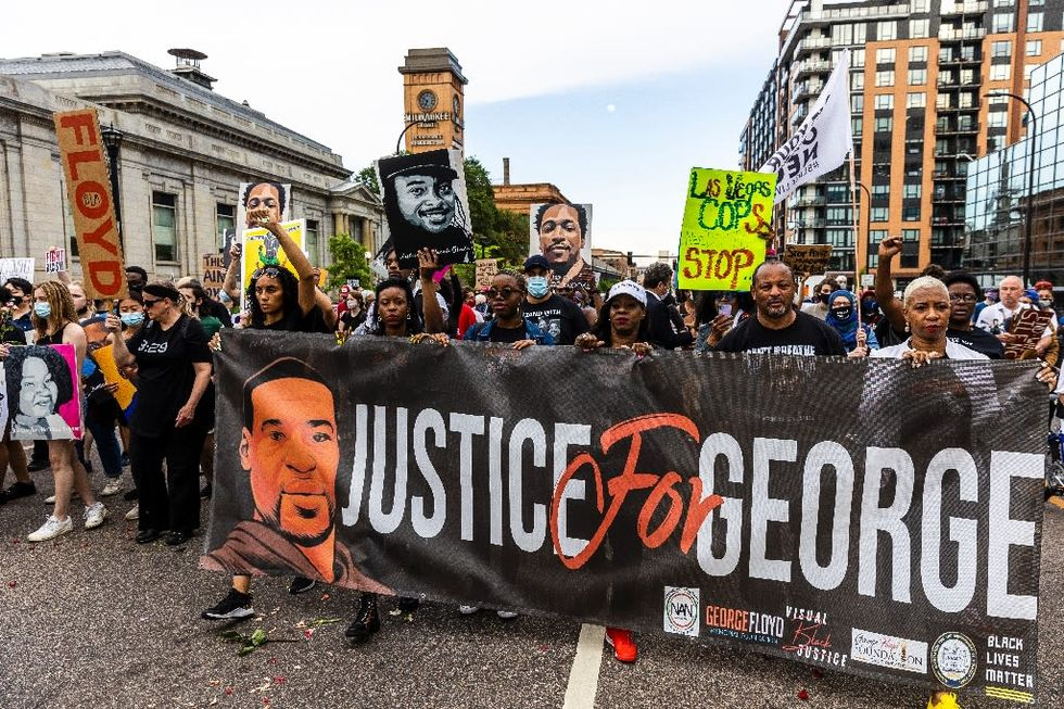 Family, supporters march in US ahead of anniversary of George Floyd death
