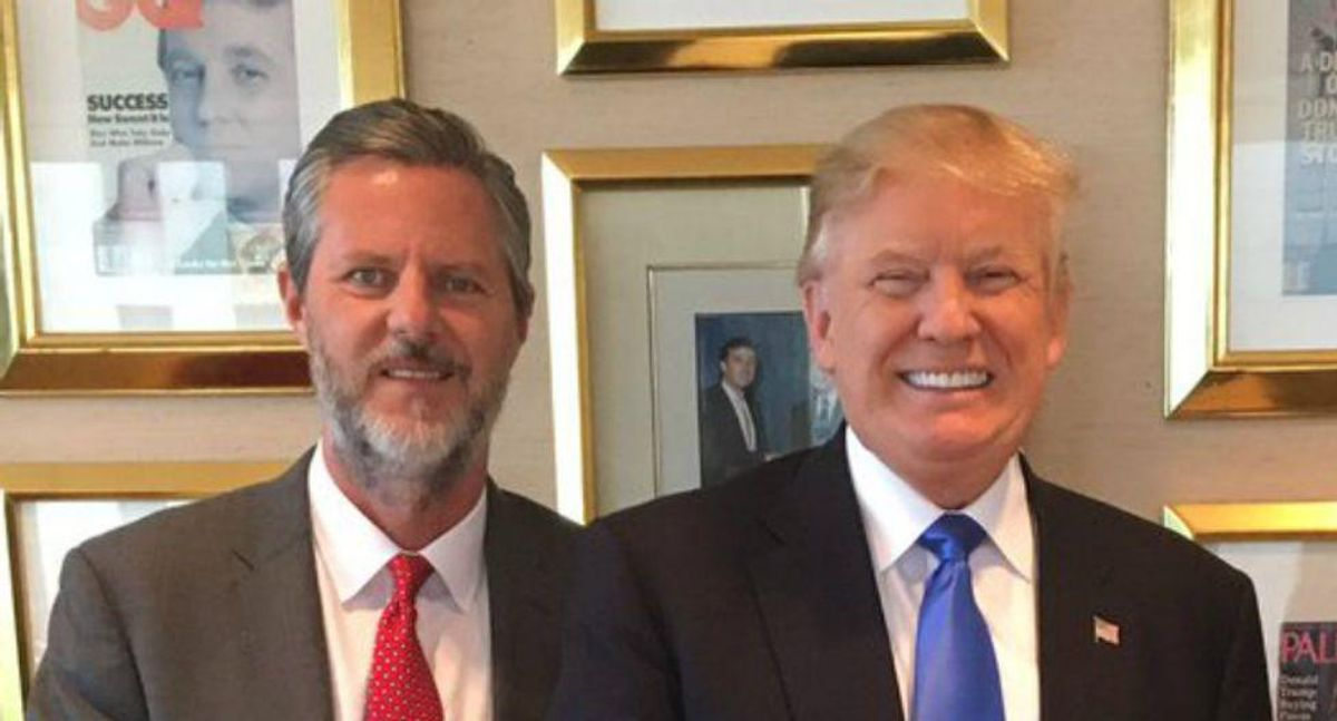 Liberty University in turmoil as students revolt against continuing relationship with Trump: report