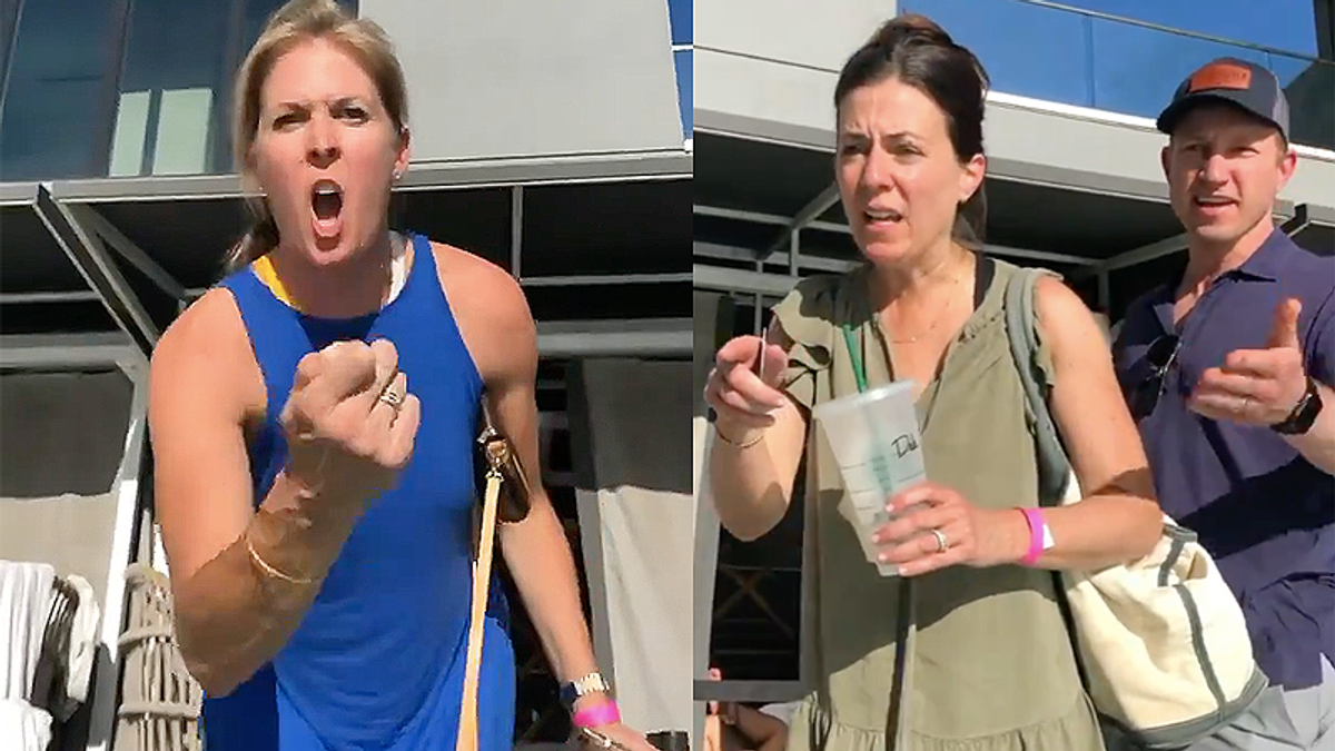 Homophobic hotel guests shouted out of pool after freakout over two women kissing