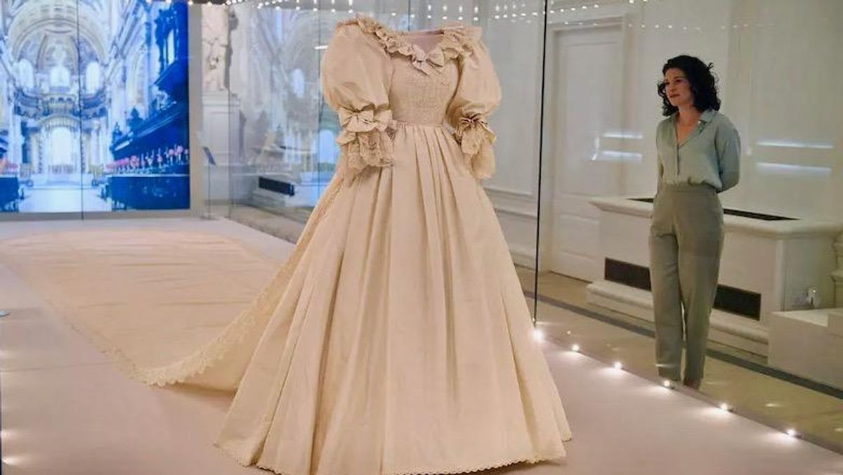 Diana's iconic wedding dress is star of royal fashion exhibit