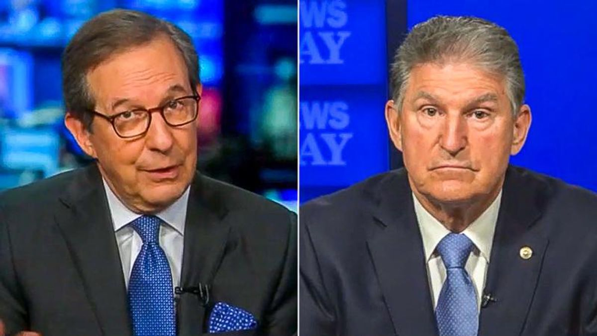'You're doing it exactly the wrong way': Chris Wallace shreds Joe Manchin for enabling GOP 'obstruction'