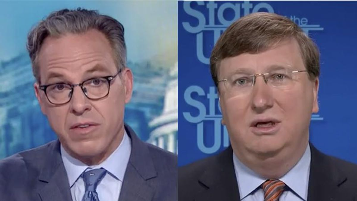 'You're contradicting yourself': Mississippi's GOP governor cornered by CNN's Tapper for his poor vaccination rate excuses